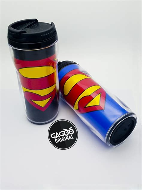 Premiumsouvenir Coffee Set Promosi Kantor Souvenir Satuan Custom tumbler superman logo gagoo 174 premium custom