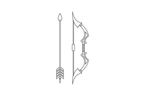 The Gallery For Gt Cool Bow And Arrow Drawing Bow And Arrow Drawing