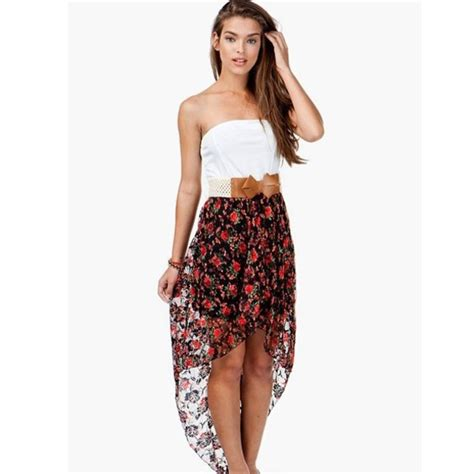 dress floral dress high low high low dresses belt bow