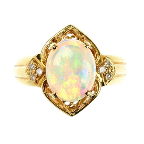 antiques atlas opal and ring