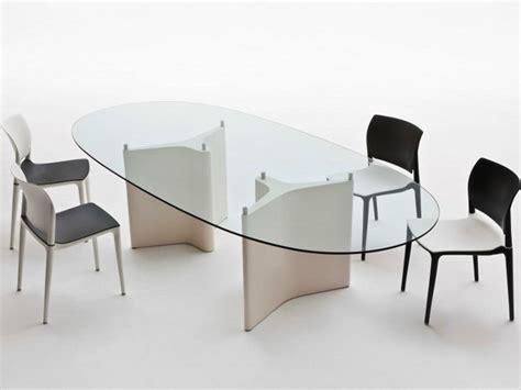 tavolo vetro ovale tavolo ovale in legno e vetro tavolo ovale segis
