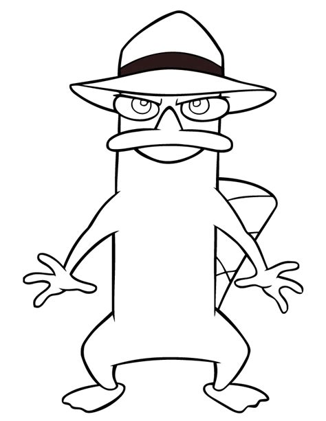 perry the platypus coloring page h m coloring pages