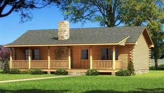 single story log cabins