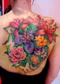 colorful flower tattoos vibrant flowers back matteo pasqualin the best