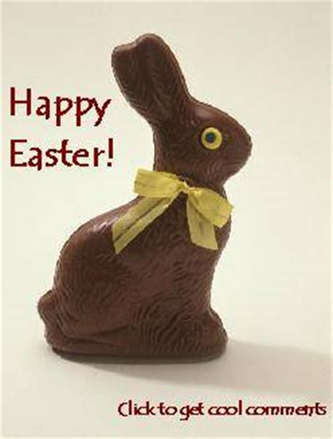 Chocolate Easter Bunny Meme - happy easter chocolate bunny glitter graphic greeting