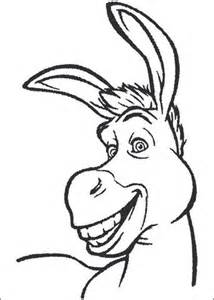 donkey head coloring page donkey head coloring page coloring pages