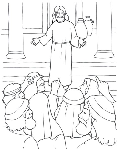 coloring pages jesus teaching a prophet without honor coloring page