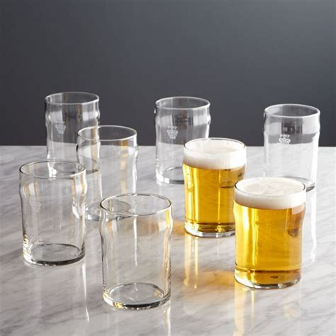 Half Pint Glass Tumblers with Crown, Set of 8   Reviews