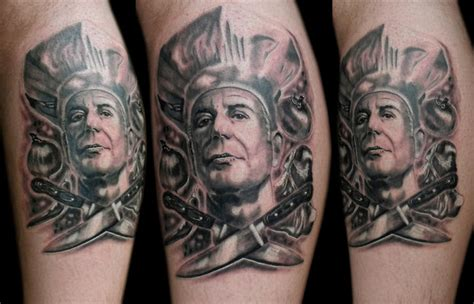 anthony bourdain tattoos anthony bourdain the best and worst fan