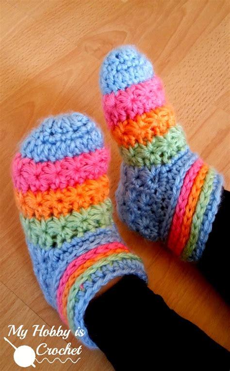 crochet slipper patterns for toddlers my hobby is crochet starlight toddler slippers free