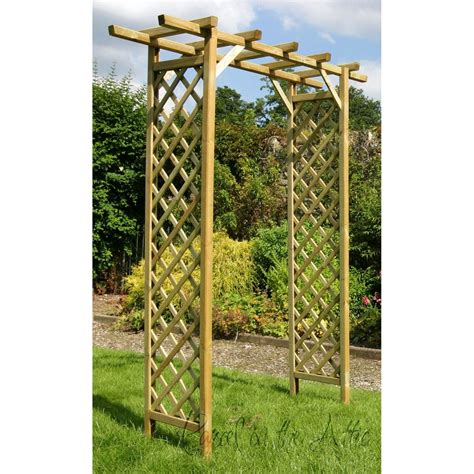 trellis arch top flat top garden arch with trellis parcel in the attic