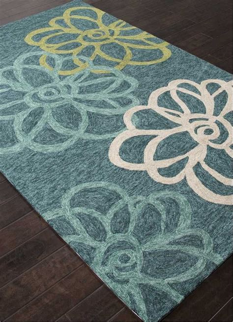 4x6 Indoor Outdoor Rug Cat08 Jaipur Rug Blossomed Blue Indoor Outdoor Cool 4x6 5x8
