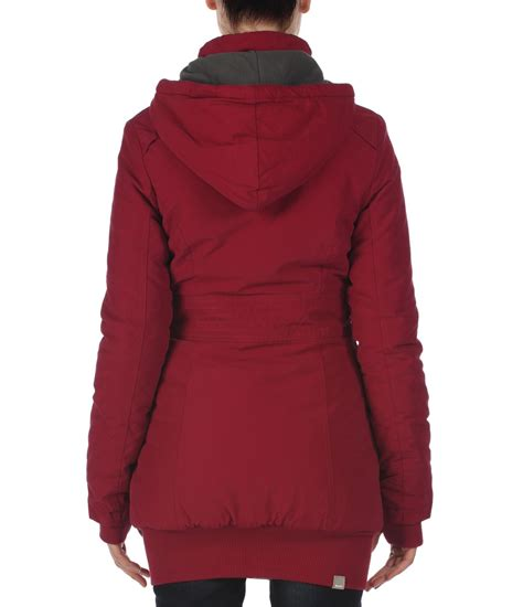 bench ladies parkas bench razzer ii hooded parka jacket in red lyst