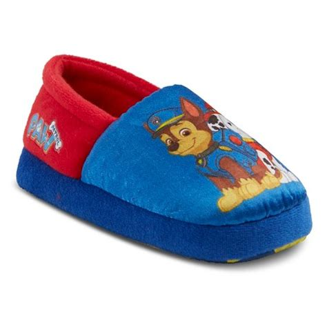 boys slippers target paw patrol toddler boy s slippers blue target