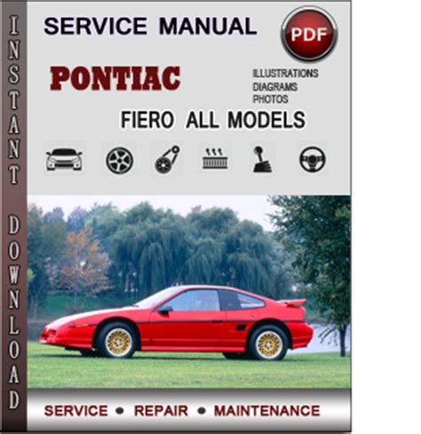 pontiac fiero service repair manual download info service manuals