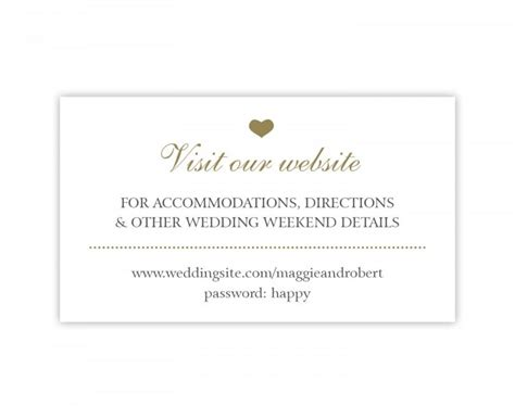 Wedding Hashtag Cards by Wedding Website Cards Simple Wedding Enclosure Cards In