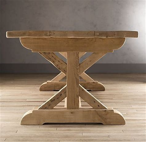 diy trestle table legs restoration hardware farmhouse table for the home