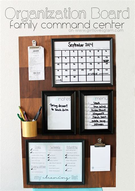 family organization organization board family command center girl loves glam