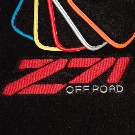 Z71 Floor Mats by Chevrolet Silverado Z71 Black Floor Mats
