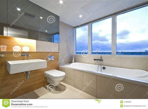 Modern Bathroom Windows by Modern En Suite Bathroom With Large Window Stock