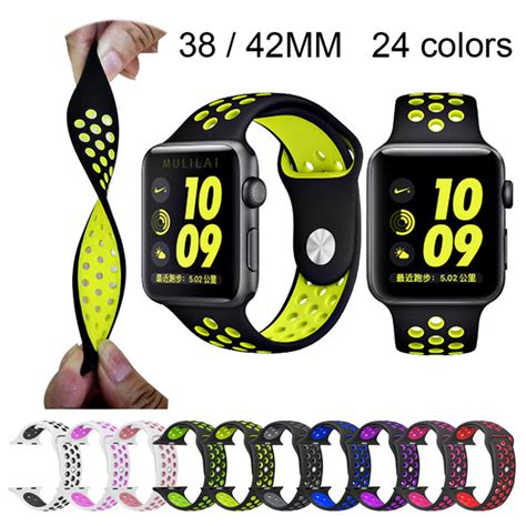 Apple Band Silicone Material Leopard For 38mm 42mm 3 Brand Sport Silicone Band For Apple Nike 42mm
