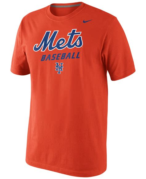 T Shirt Nike New York Baseball lyst nike s new york mets practice t shirt in orange