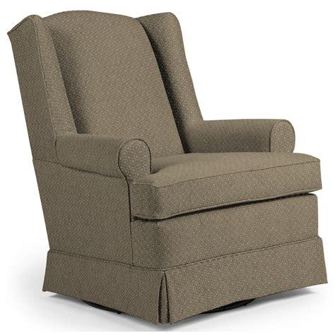Best Home Furnishings Chairs Swivel Glide Roni Skirted Swivel Glide Chair