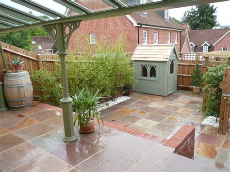 Sheds And Patios by Garden Patio And Shed Alresford Gemini Landscapes