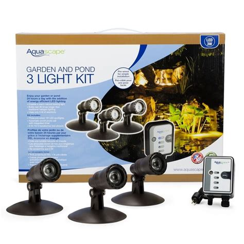 aquascape led pond lights led spotlight kit aquascape pond lighting