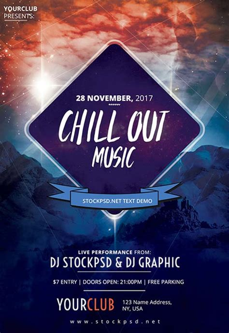 Freepsdflyer Chillout Music Party Free Flyer Template Download For Photoshop Out Flyer Template Free