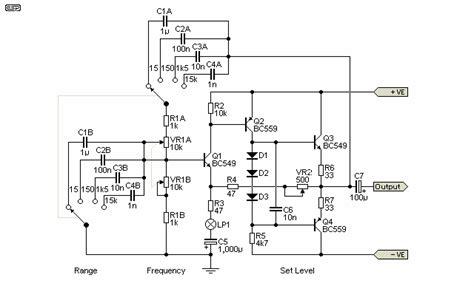diode stabilised wien bridge oscillator diode stabilised wien bridge oscillator 28 images gt gt circuits gt wien bridge oscillator