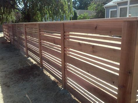 horizontal wood fence custom horizontal wood fences portland or horizontal