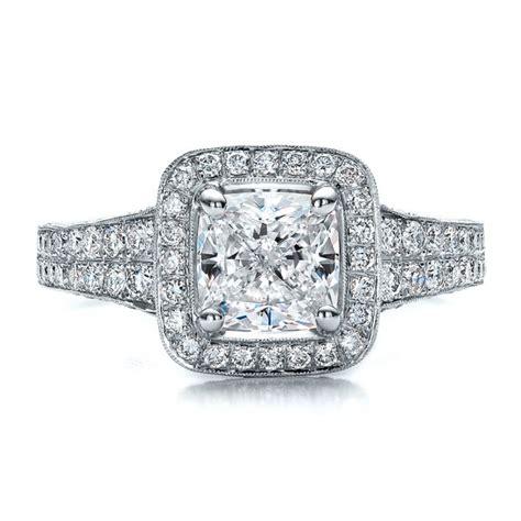 custom halo engagement ring 100098