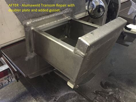 how to repair aluminum boat boat repair job on aluminum boat cut damaged bracket