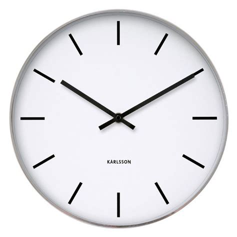 wall clocks karlsson station classic wall clock plain white clock