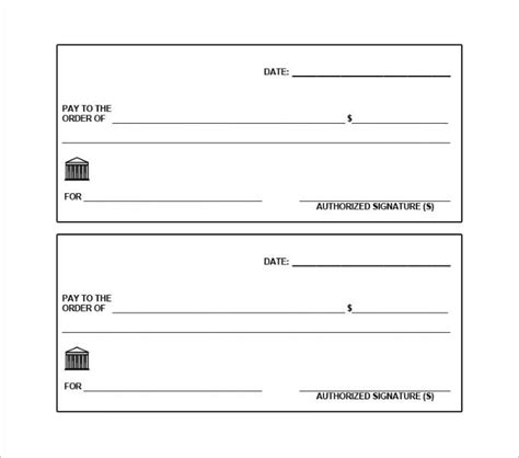 pretend checks template editable blank check template khafre