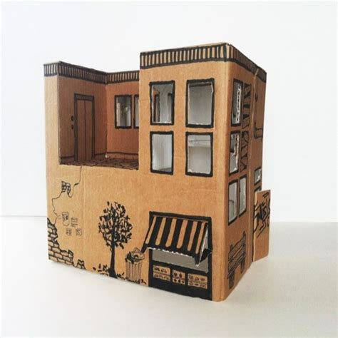 cardboard dolls house best 25 cardboard box houses ideas on pinterest cardboard play cardboard playhouse