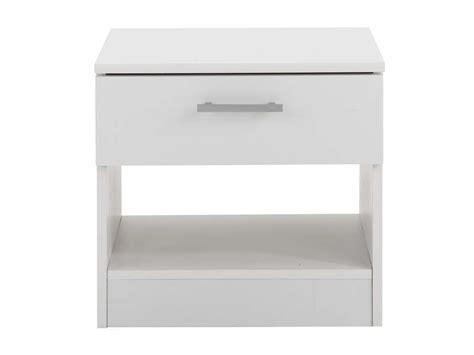 conforama table de nuit chevet 1 tiroir infinity coloris blanc vente de chevet