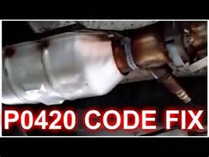 P0420 Dodge P0420 Code Fix How Its Done Catalyst Efficiency Below