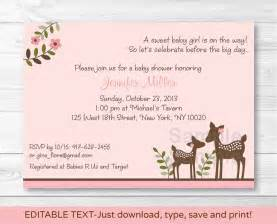 pink willow deer baby printable baby shower