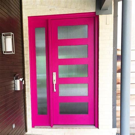 Pink Front Door Paint Dazzle The Neighborhood With A Front Door In Exuberant Pink Sw 6840 Front And Center Here This