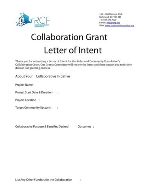 33 letter of intent templates free word sle documents
