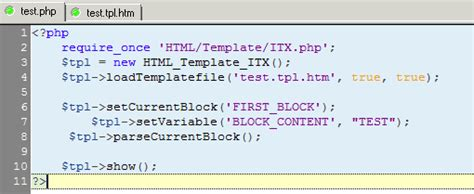 Abstracting Php From Html With Pear Templates Php Template Html