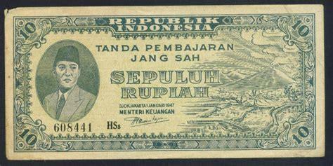 Indonesia Rp 5 1947 Ori P Soekarno Sn 777 074 Ox Xf koleksi tempo doeloe uang kuno sepuluh rupiah seri ori ii djokjakarta 1 djanuari 1947