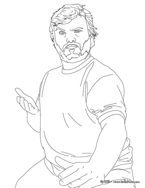 jack black coloring pages hellokids com