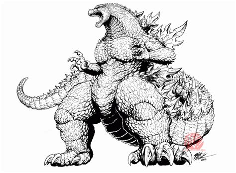 godzilla coloring coloring pages  kids   adults