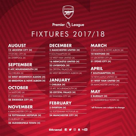 arsenal fixtures arsenal fc on twitter quot here it is our premierleague