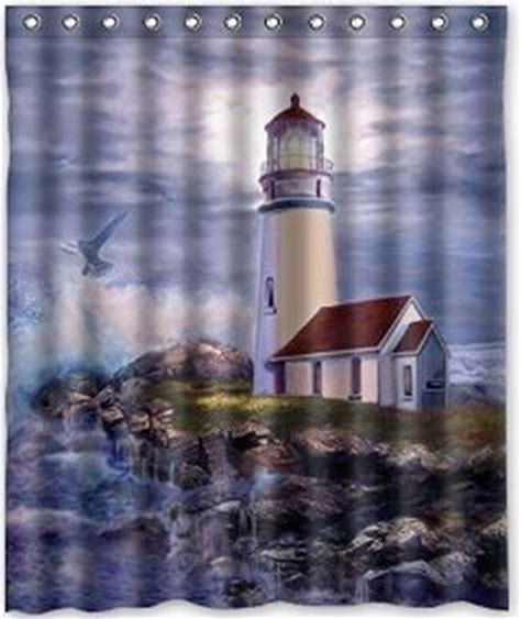 light house shower curtain amazing lighthouse design the nightmare before christmas