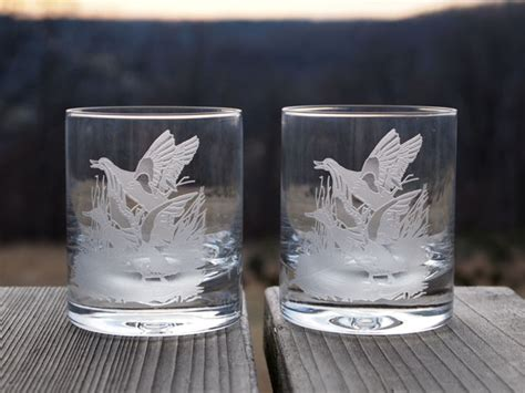 Rock Glasses Barware rocks glass mallard sportsman s table
