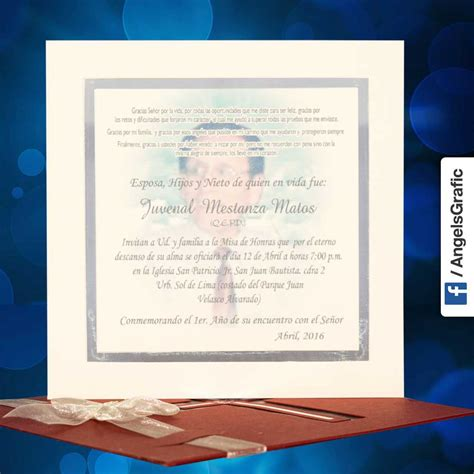 recordatorios de misa de honras invitaci 243 n para misa de honras hr 56854 angels graphic
